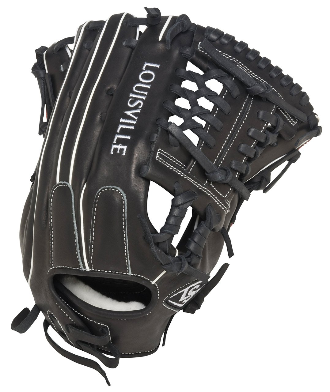 louisville-slugger-super-z-black-14-inch-slow-pitch-softball-glove-right-handed-throw FGSZBK5-1400-Right Handed Throw Louisville Slugger 044277051914 Louisville Slugger Super Z Black 14 inch Slow Pitch Softball Glove