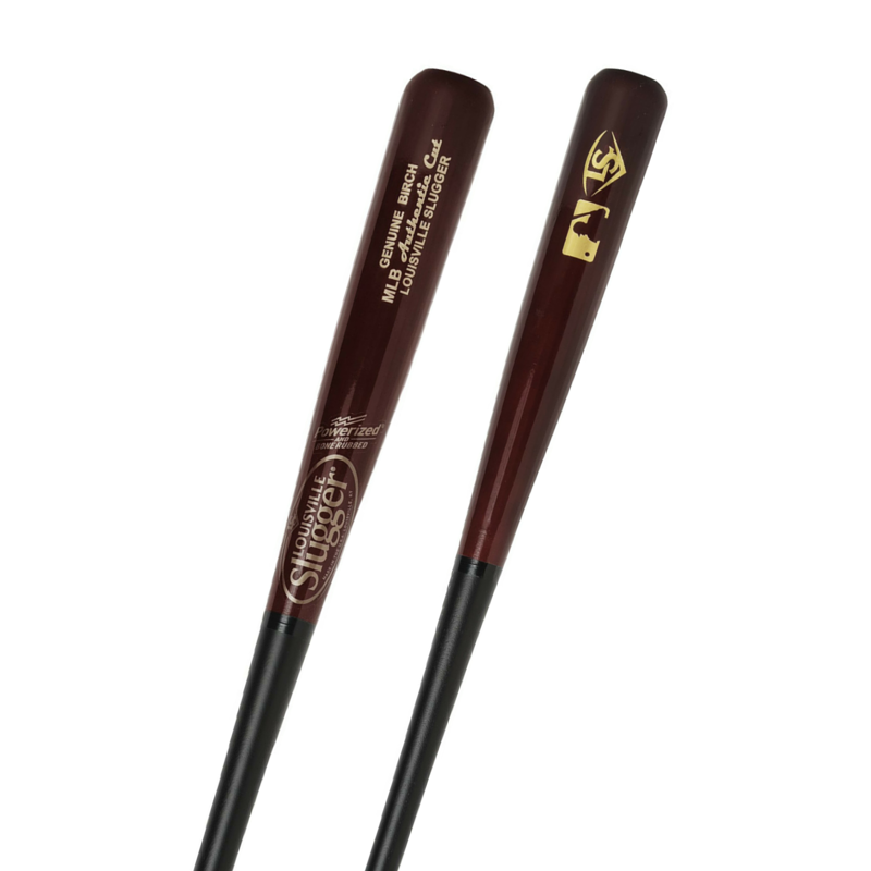 louisville-slugger-wbcbmlb-hb-mlb-authentic-cut-birch-black-matte-hornsby-33-wood-baseball-bat WBCBMLB-HB33 Louisville 044277129811 Birch wood combines the closed-grain stiffness and hardness of Maple and