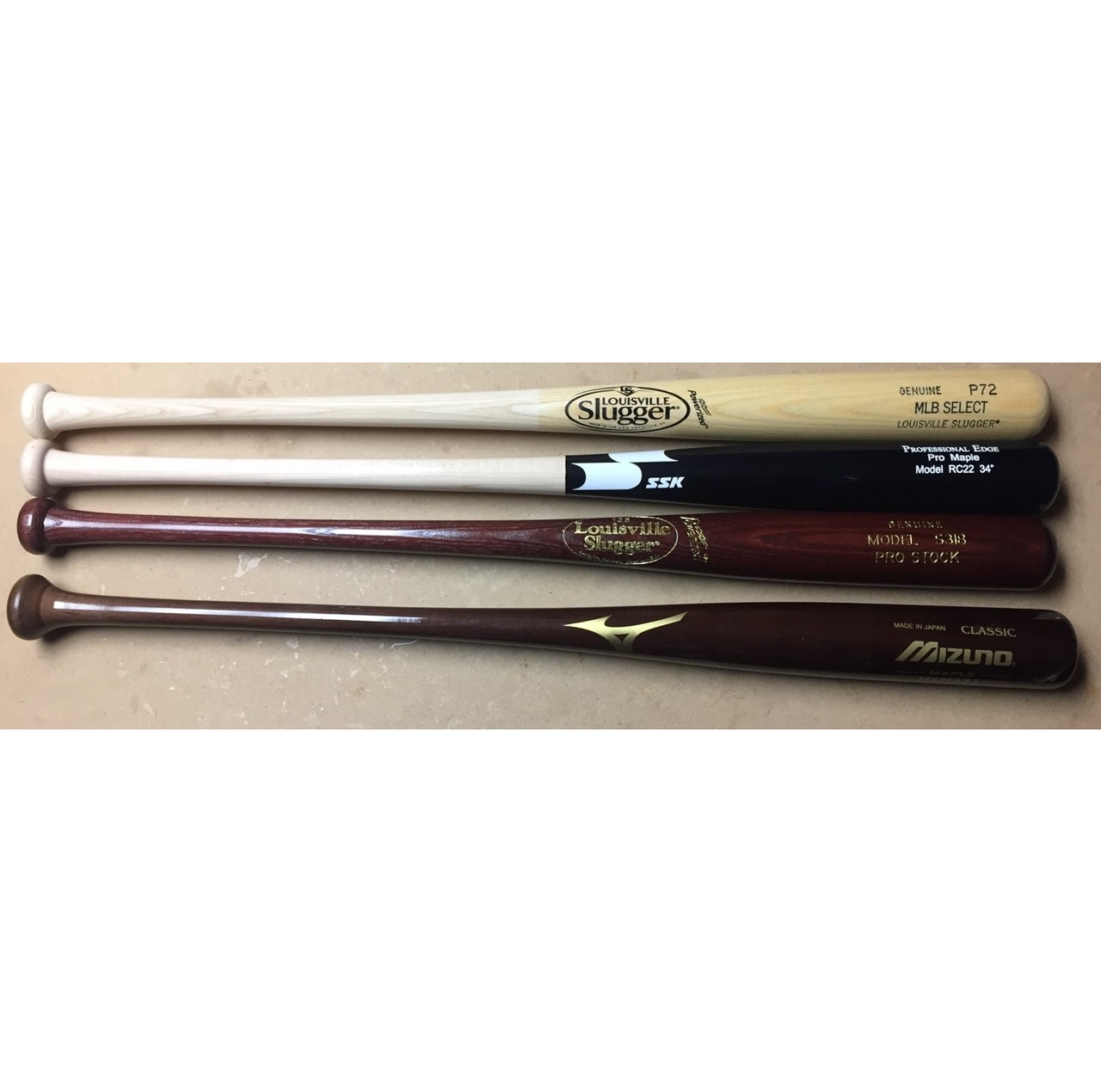 louisville-slugger-wood-bat-pack-34-inch-4-bats BATPACK-0004 Louisville  <p>SSK Pro Maple with small scratch. MLB Select P72. S318 Pro