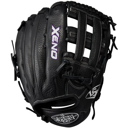 louisville-slugger-xeno-12-5-inch-fastpitch-softball-glove-double-post-black-right-hand-throw LXNRF17125-RightHandThrow Louisville 887768498344 When top-of-the-line leather meets a soft lining a game-ready glove like