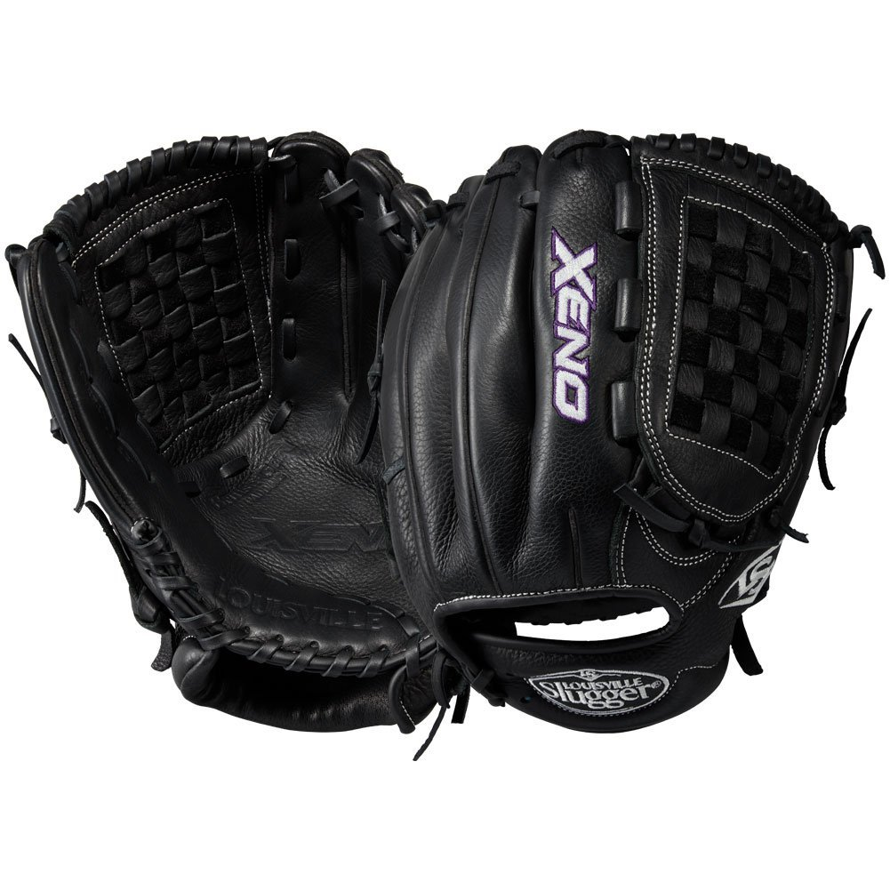 louisville-slugger-xeno-12-inch-fastpitch-softball-glove-closed-basket-black-right-hand-throw LXNRF1712-RightHandThrow Louisville 887768498337 Louisville Slugger Xeno Fastpitch Softball Glove 12.00. Designed to perfection by