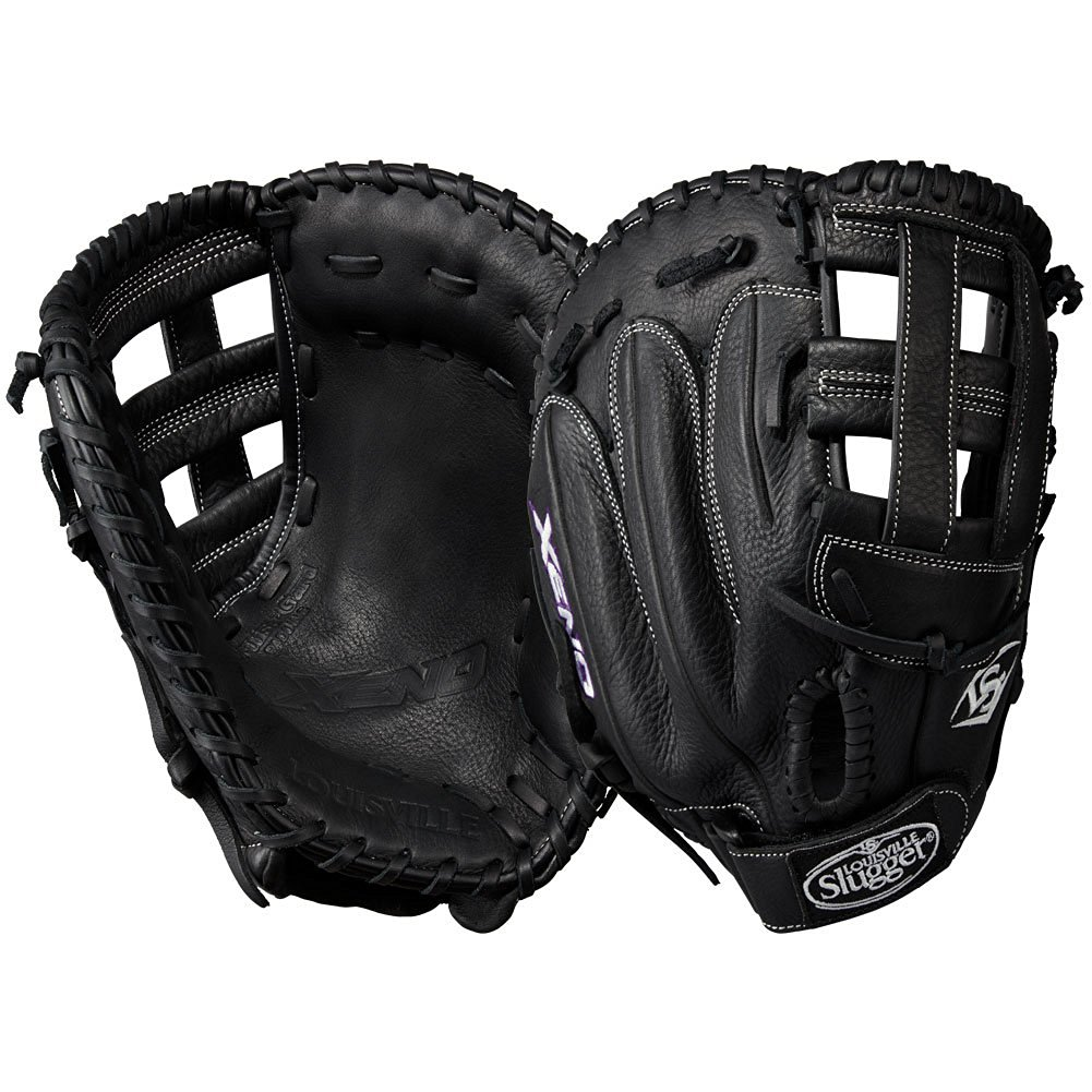 louisville-slugger-xeno-13-inch-first-base-softball-glove-dual-post-black-right-hand-throw LXNRF17BM-RightHandThrow Louisville 887768498368 When top-of-the-line leather meets a soft lining a game-ready glove like