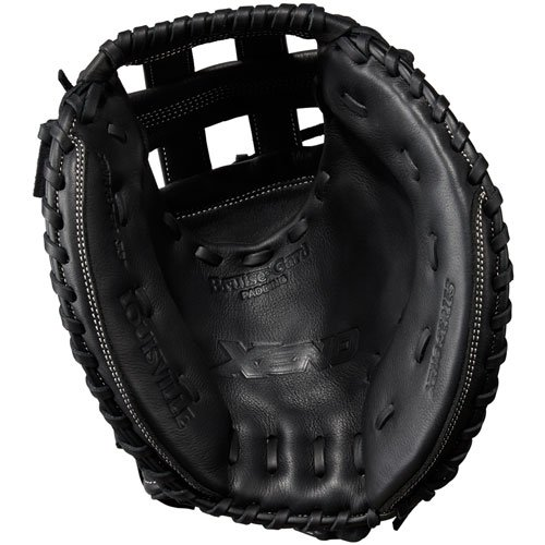 louisville-slugger-xeno-33-inch-fastpitch-catchers-mitt-dual-post-black-right-hand-throw LXNRF17CM-RightHandThrow Louisville 887768498375