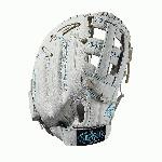 13 first base glove Dual post web Memory foam wrist lining White and Aqua blue Female-specific patterns. Needing minimal break-in and designed with memory foam wrist lining and patterns specific to female athletes, this 11.75 Xeno infield model features a Dual Post Web construction in a white and aqua blue design. When top-of-the-line leather meets a soft lining, a game-ready glove like no other is born. The Xeno is the perfect combination of style and feel for the young Fastpitch player.