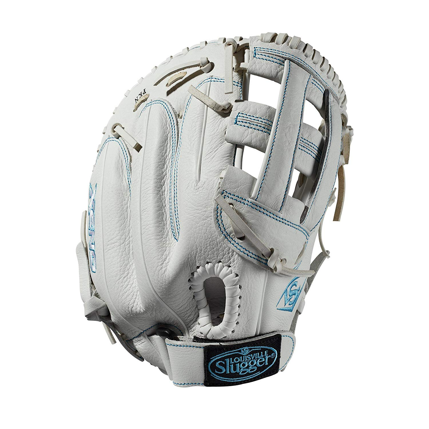 louisville-slugger-xeno-first-base-mitt-fastpitch-sofball-glove-13-right-hand-throw WTLXNRF19BM-RightHandThrow   13 first base glove Dual post web Memory foam wrist lining
