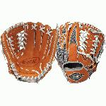 Louisville Slugger XH1150GO 11 12 Inch Baseball Glove (Left Hand Throw) : Louisville Slugger LEFT HAND THROW 11.5 HD9 Hybrid Defense OrangeGray Baseball Glove