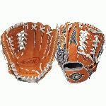 Louisville Slugger XH1150GO 11 12 Inch Baseball Glove (Left Hand Throw) : Louisville Slugger LEFT HAND THROW 11.5 HD9 Hybrid Defense OrangeGray Baseball Glove