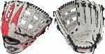 Louisville Slugger XH1175SG 11 3/4 Inch Hybrid Defense Baseball Glove : Louisville Slugger 11.75 HD9 Hybrid Defense Red/Gray Baseball Glove