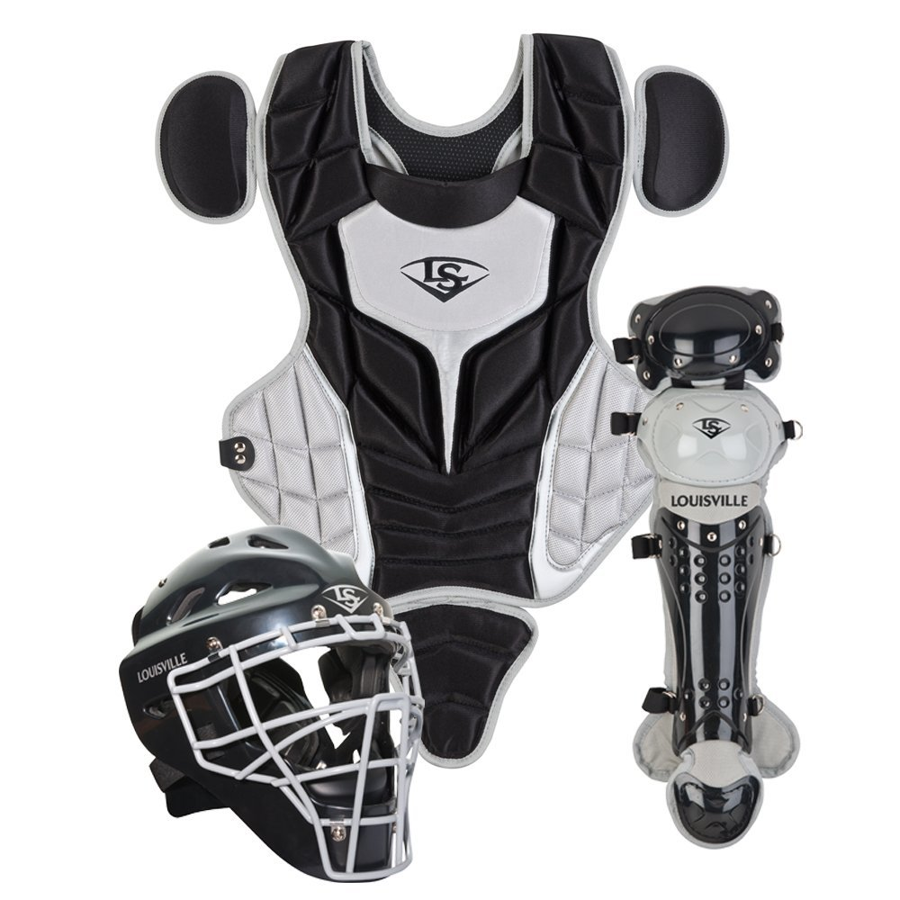 louisville-slugger-youth-pg-series-5-catchers-set-black-gray PGS514-STYBG Louisville B00G1XDKDY Louisville Slugger PGS514-STY Series 5 Youth Catchers Gear Set Helmet Features