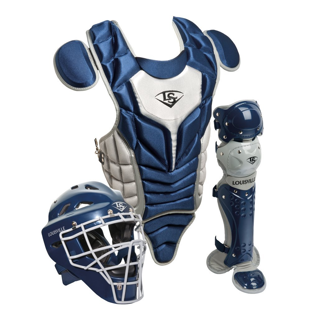 louisville-slugger-youth-pg-series-5-catchers-set-navy-gray PGS514-STYNG Louisville B00G1XDLCE Louisville Slugger PGS514-STY Series 5 Youth Catchers Gear Set Helmet Features