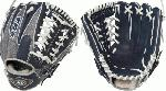 Louisville XH1150NG 11 12 Inch Baseball Glove (Right Handed Throw) : Louisville Slugger 11.5 HD9 Hybrid Defense NavyGray Baseball Glove. Professional grade, oil-treated steerhide leather. Full leather linings. Zero-gravity performance mesh back provides quicker break-in and ultra lightweight feel.