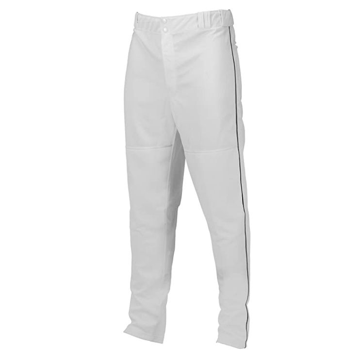 marucci-adult-elite-double-knit-piped-baseball-pant-white-black-large MAPTDKPIP-WBK-AL   100% polyester double-knit fabrication. 290GM2 weight for longer and extending life.