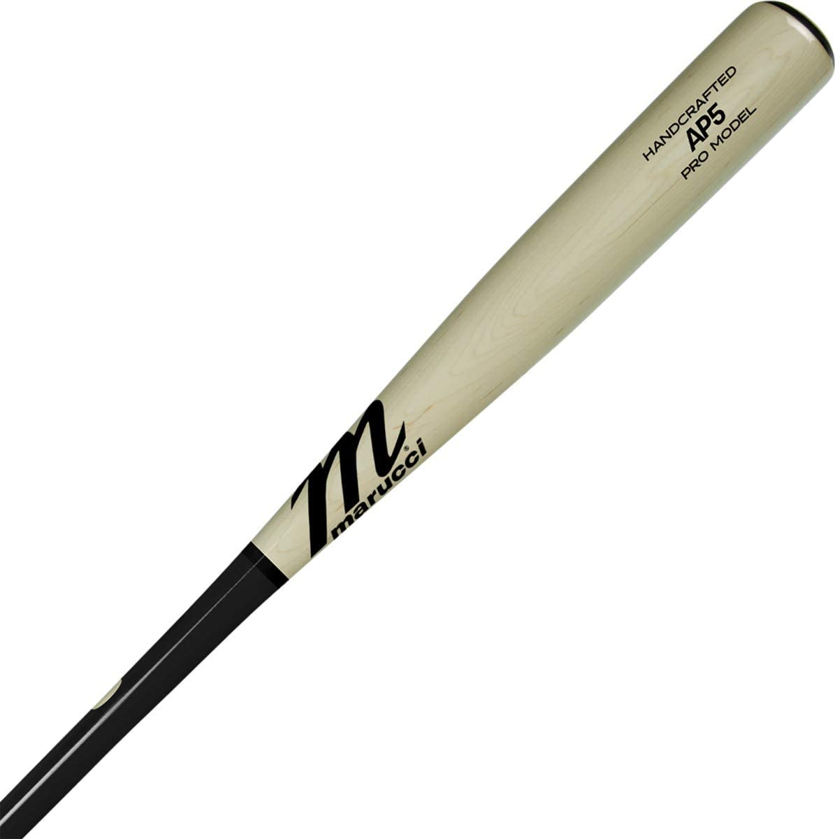 marucci-ap5-maple-pro-wood-baseball-bat-32-inch-black-natural MVE2AP5-BKN-32 Marucci 840058700015 Knob Tapered. Handle Tapered. Barrel Large. Feel End Loaded. Handcrafted from