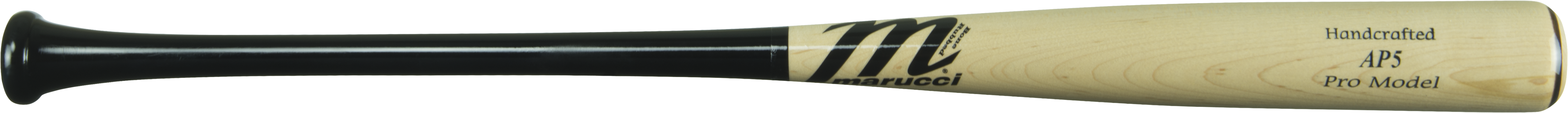 marucci-ap5-maple-pro-wood-baseball-bat-33-inch-black-natural MVE2AP5-BKN-33  840058700022 Knob Tapered. Handle Tapered. Barrel Large. Feel End Loaded. Handcrafted from