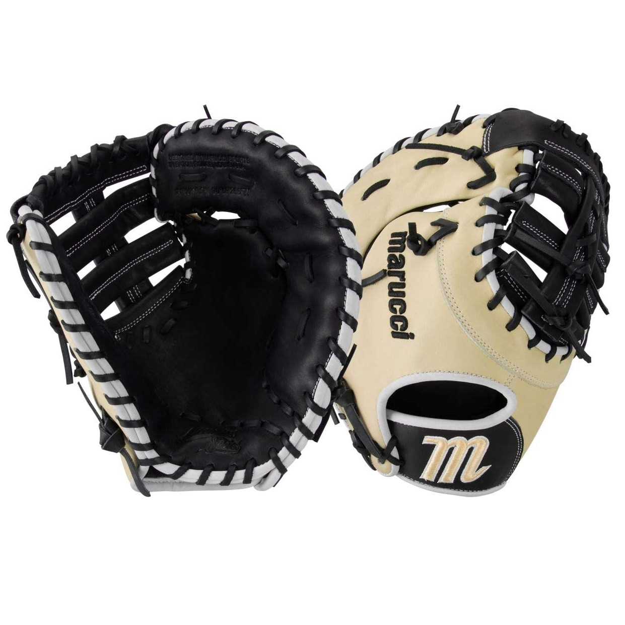 marucci-ascension-as3y-12-5-first-base-mitt-right-hand-throw MFGAS3FBY-RightHandThrow Marucci  Tight-grain steer hide shell leather and palm lining increases durability while