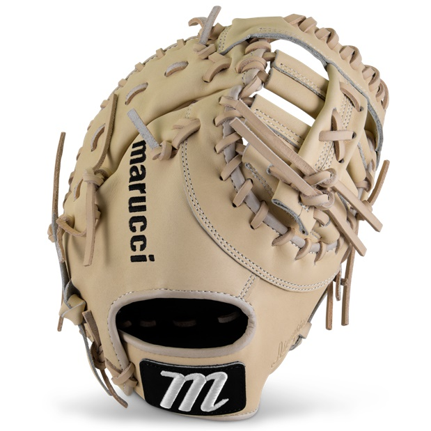 marucci-ascension-m-type-first-base-mitt-37s1-12-50-double-bar-post-right-hand-throw MFGASM3Y-CM-RighHandThrow Marucci 840058746617 <em>M Type</em>fit system provides integrated thumb and pinky sleeves with enhanced