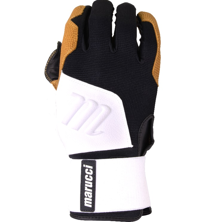 marucci-blacksmith-full-wrap-bg-white-black-batting-gloves-adult-large MBGBKSMFW-WBK-AL Marucci  Extremely durable training glove inspired by heavy work gloves built to