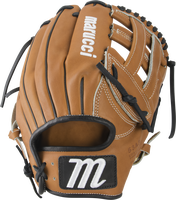 Premium Japanese-tanned USA Kip leather combines ideal stiffness with lightweight feel Highest-grade sheepskin finger lining with padding-wrapped thumb and loops Professional-grade USA rawhide laces from Tennessee Tanning Co. Japanese Kip leather palm lining reinforces structure with a velvety smooth touch Moisture-wicking mesh wrist lining with added memory foam padding.