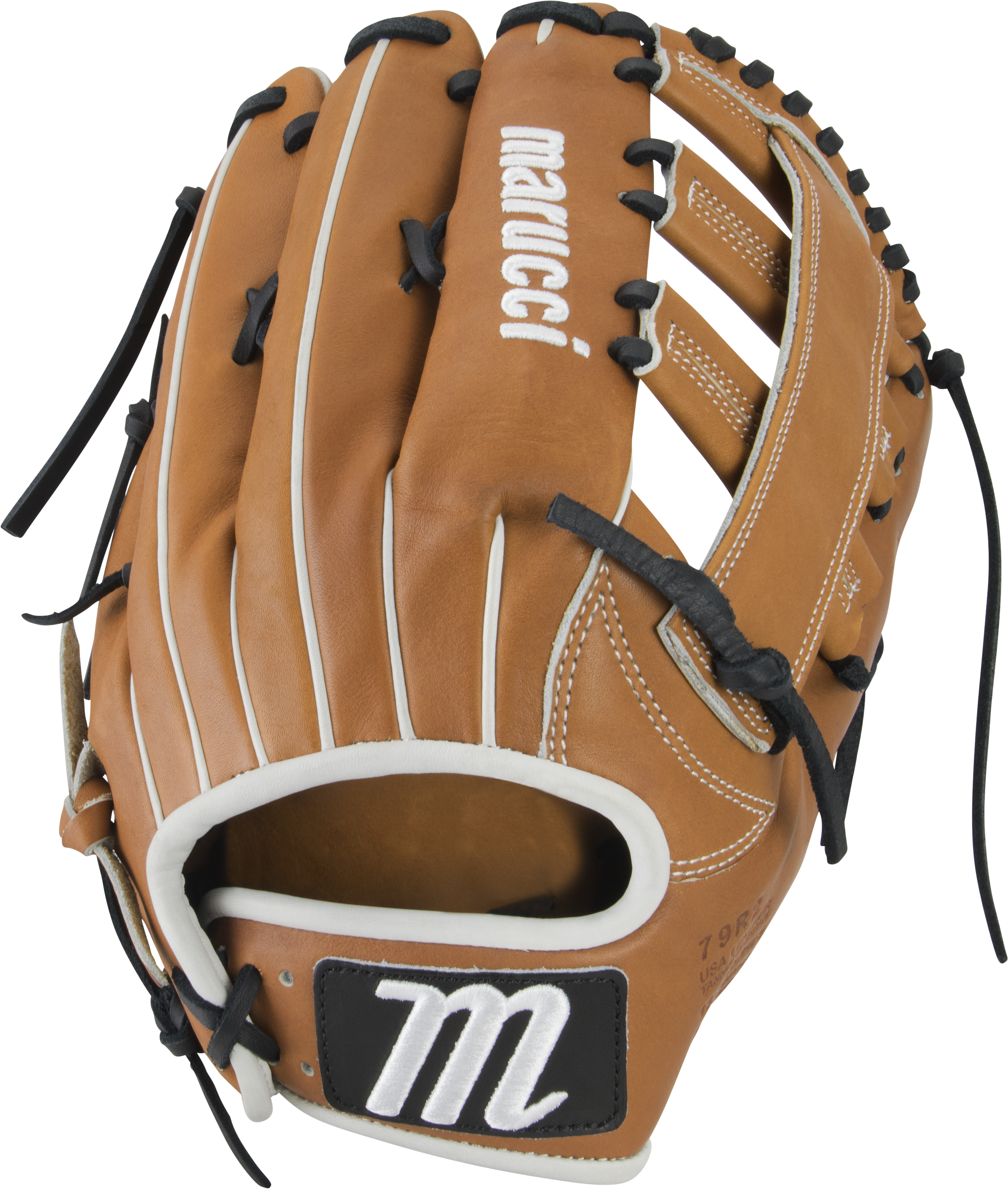 marucci-capitol-12-75-baseball-glove-79r2-two-bar-post-web-right-hand-throw MFGCP79R2-TFBK-RightHandThrow Marucci  849817099308 Premium Japanese-tanned USA Kip leather combines ideal stiffness with lightweight feel