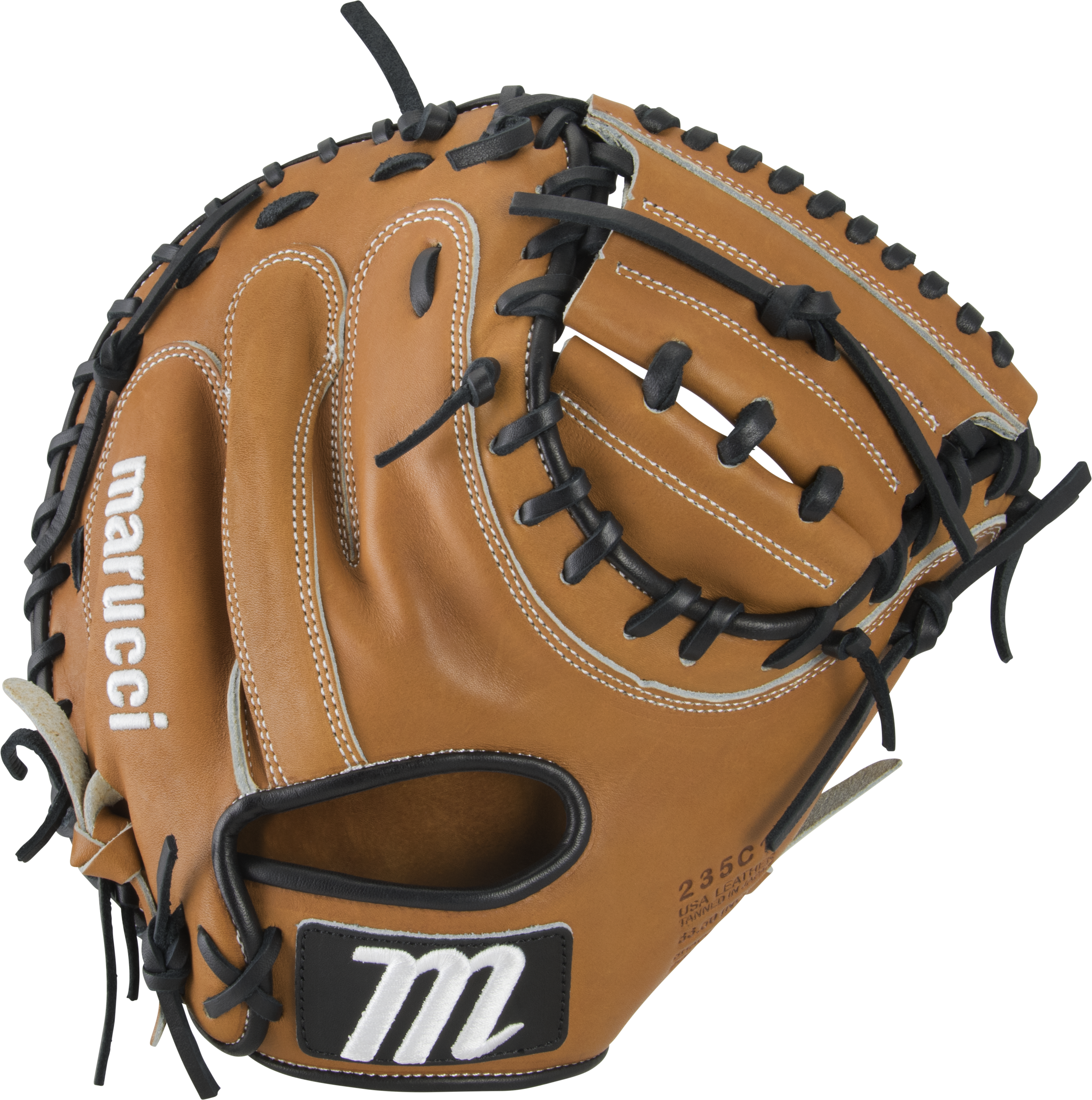 marucci-capitol-33-5-catchers-mitt-baseball-glove-235c1-two-one-piece-solid-web-right-hand-throw MFGCP235C1-TFBK-RightHandThrow Marucci  849817099346 Premium Japanese-tanned USA Kip leather combines ideal stiffness with lightweight feel
