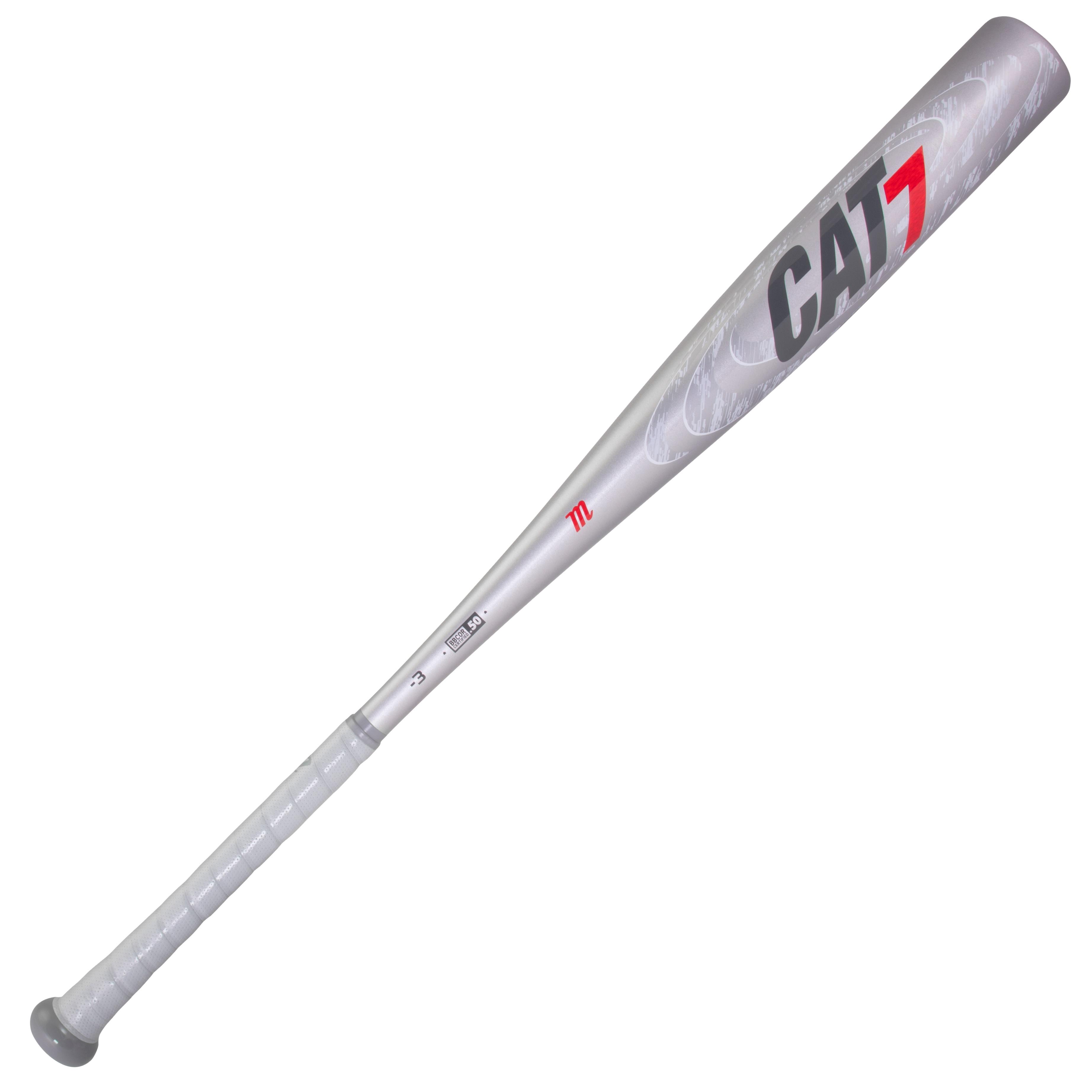 marucci-cat7-silver-3-bbcor-baseball-bat-33-inch-30-oz MCBC72S-3330