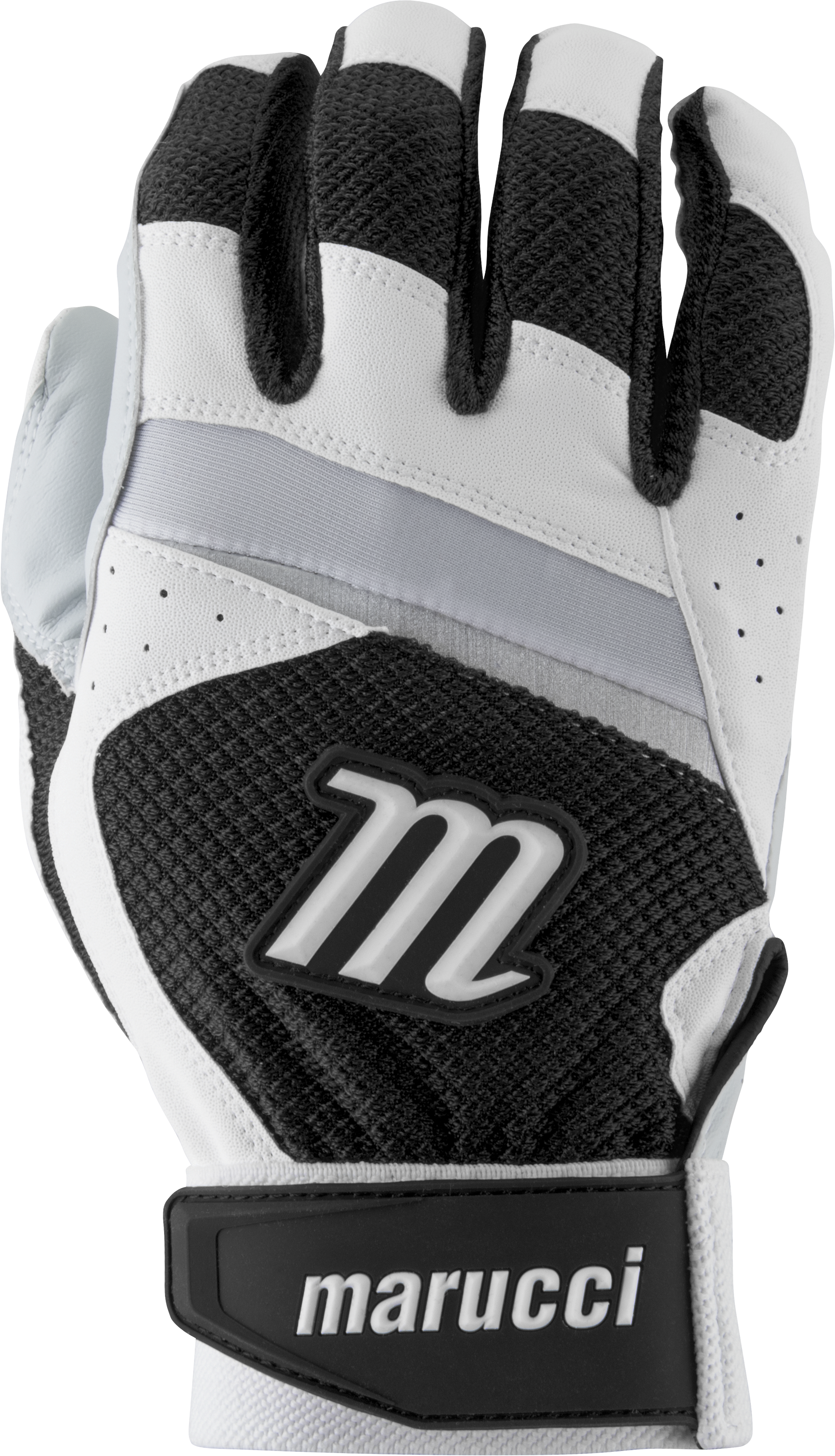 marucci-code-adult-batting-gloves-1-pair-white-black-adult-large MBGCD-WBK-AL  849817095966 2019 Model MBGCD-W/BK Consistency And Craftsmanship Commitment To Quality And Understanding