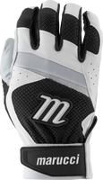 marucci code adult batting gloves 1 pair white black adult x large