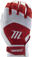 marucci code adult batting gloves 1 pair white red adult medium