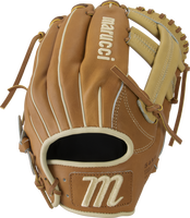 • Premium Japanese-tanned steerhide leather provides stiffness and rugged durability • Extra-smooth cowhide lining with padding-wrapped thumb and pinky loops • Professional-grade USA rawhide laces from Tennessee Tanning Co. • Moisture-wicking mesh wrist lining with added padding.