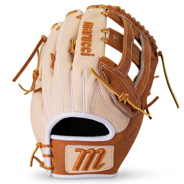Size-specific, ergonomically shaped fit system creates a more form fitting hand stall for greater control, leverage and responsiveness when fielding. Strategically constructed multi-layered sheepskin palm lining drastically reduces weight while preserving glove structure.