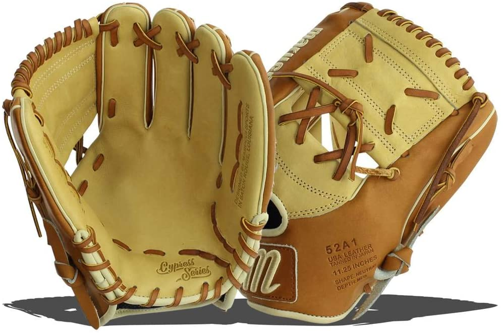 marucci-cypress-series-52a1-11-25-baseball-glove-1-piece-solid-right-hand-throw MFGCY52A1-SMTF-RightHandThrow   Premium Japanese-tanned steerhide leather provides stiffness and rugged durability Extra-smooth cowhide