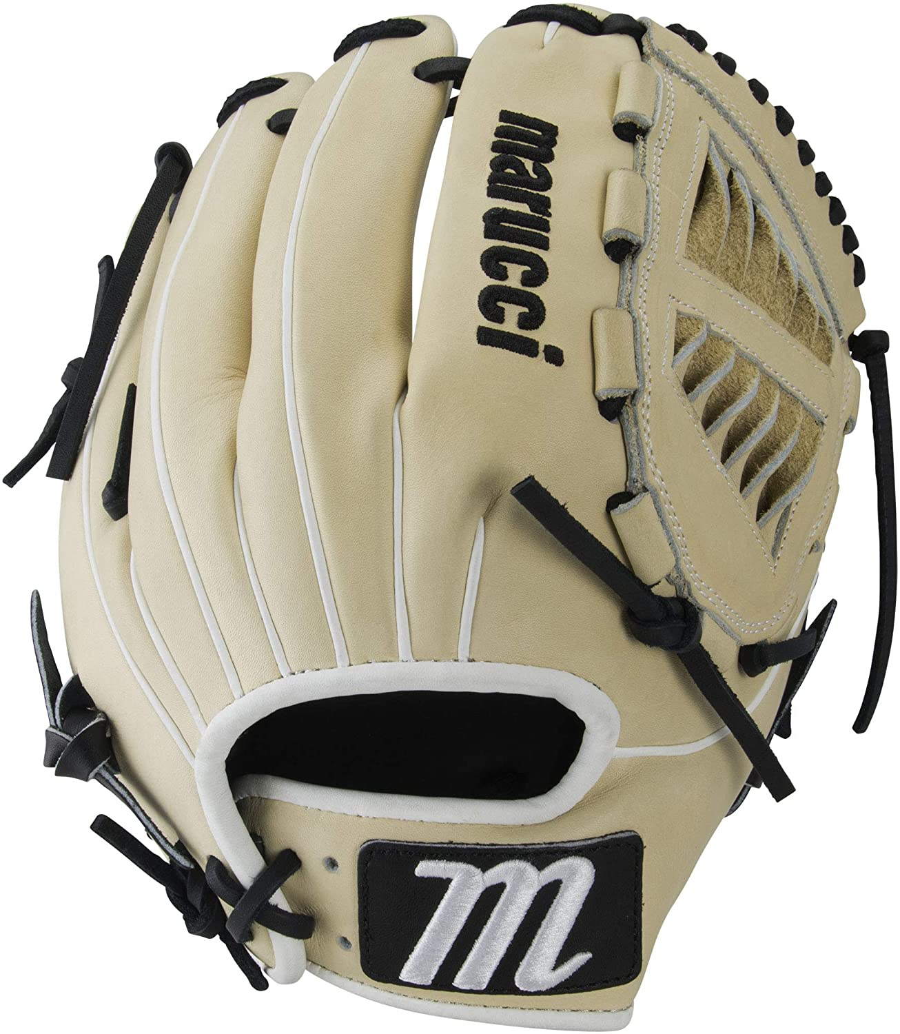 marucci-magnolia-series-12-inch-fastpitch-softball-glove-spiral-web-right-hand-throw MFGMG12FP-CMBK-RightHandThrow Marucci  Premium Japanese-tanned steerhide leather provides stiffness and rugged durability Cushioned leather