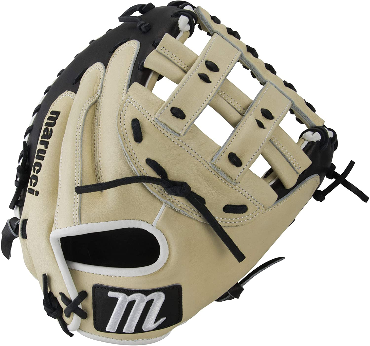 marucci-magnolia-series-mg2fp-34-softball-fast-pitch-catchers-mitt-h-web-right-hand-throw MFGMG2FP-CMBK-RightHandThrow Marucci  Premium Japanese-tanned steer hide leather provides stiffness and rugged durability Cushioned