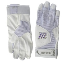 marucci mbgqst2 w bk al quest 2 batting gloves white adult large