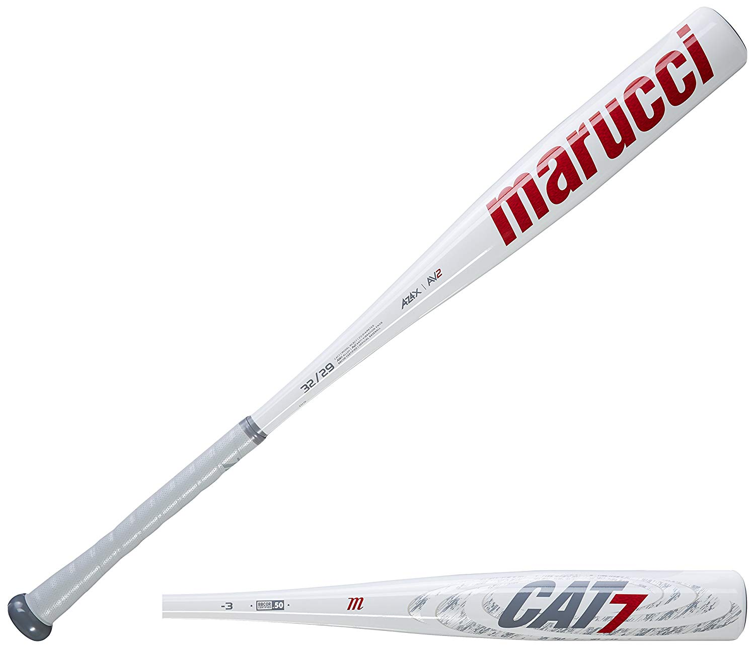 marucci-mcbc7-cat7-3-bbcor-baseball-bat-32-inch-29-oz MCBC7-3229 Marucci 849817039823 Az4x alloy construction provides increased strength and a higher response rate.