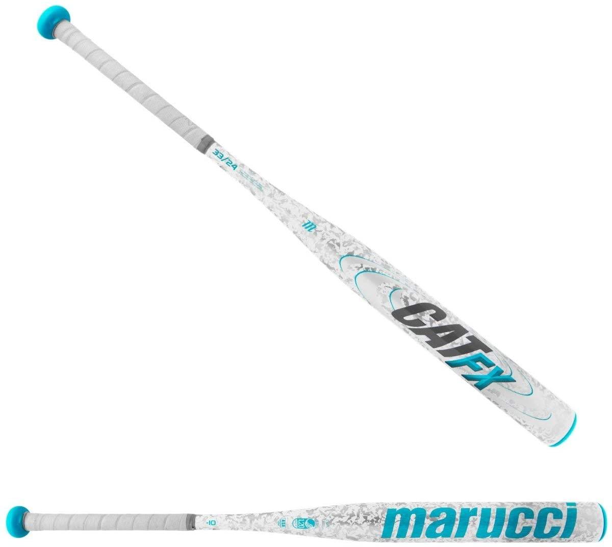 marucci-mfpc710-cat-fx-fast-pitch-softball-bats-33-in-23-oz MFPC710-3323 Marucci  One-piece composite construction - All-season durability maximum trampoline AV2 Knob -