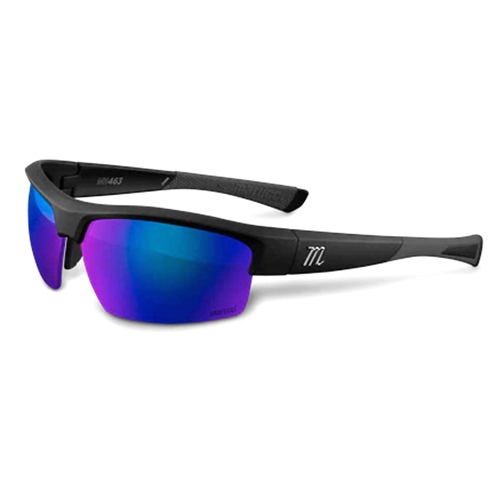marucci-mv463-matte-black-green-with-blue-mirror-baseball-performance-sunglasses MSNV463-MB-B Marucci  Mariucci Sports - As a company founded majority-owned and operated by