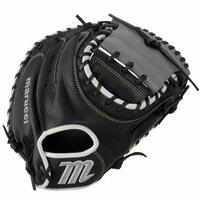 The MarucciA Oxbow Series 33.5 Inch Catcher's Mitt features a full-grain cowhide leather shell for durability. Leather palm lining and soft fur wrist padding provides added cushioning and comfort Pocket depth and web design lets catchers keepA pitches in the zone and opponents from scoring. Full-grain cowhide leather shell for durable, long-lasting performance Supple leather palm lining includes added cushioning for superior comfort and feel.