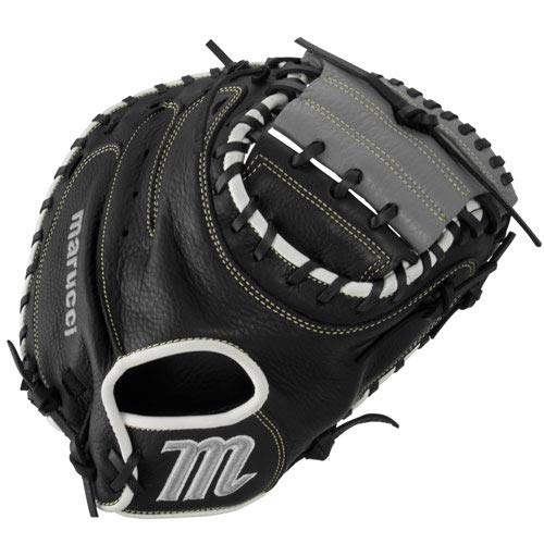marucci-oxbow-series-33-5-catchers-mitt-right-hand-throw MFGOX2-BKGY-RightHandThrow  849817099544 The MarucciA Oxbow Series 33.5 Inch Catchers Mitt features a full-grain