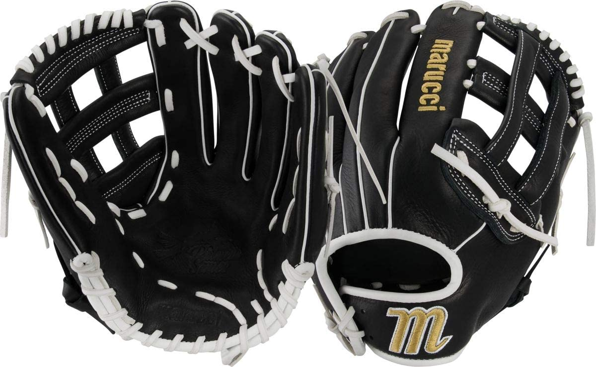 marucci-palmetto-series-fastpitch-softball-glove-12-5-right-hand-throw MFGPL125FP-BKW-RightHandThrow Marucci  Soft-tumbled cowhide shell increases durability while reducing weight Cushioned leather finger