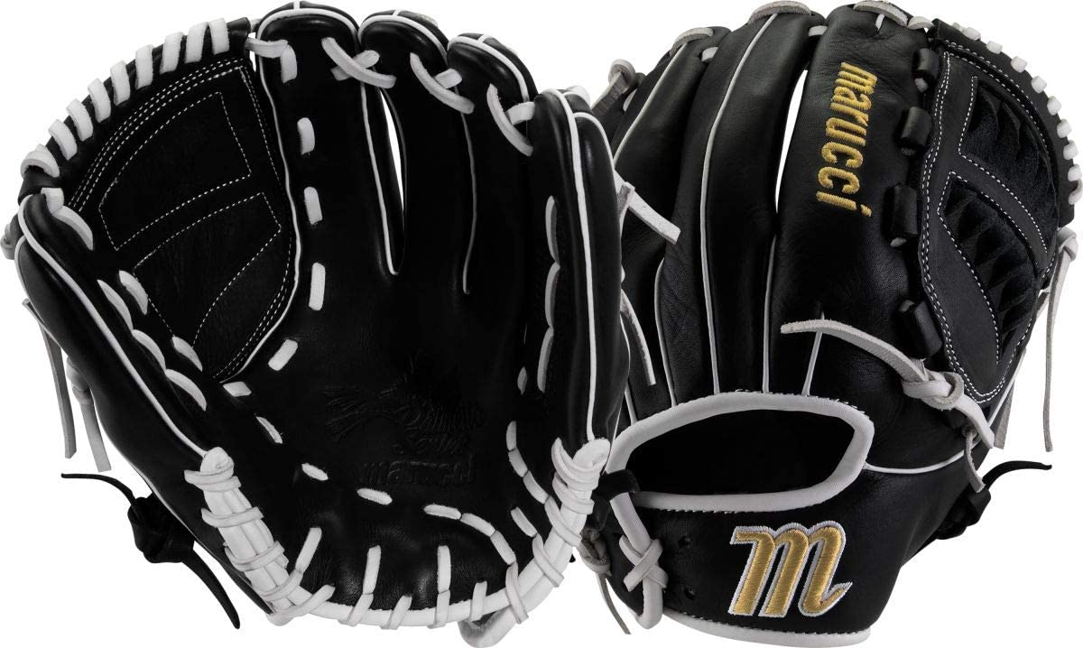 marucci-palmetto-series-fastpitch-softball-glove-12-right-hand-throw MFGPL12FP-BKW-RightHandThrow Marucci  Soft-tumbled cowhide shell increases durability while reducing weight Cushioned leather finger