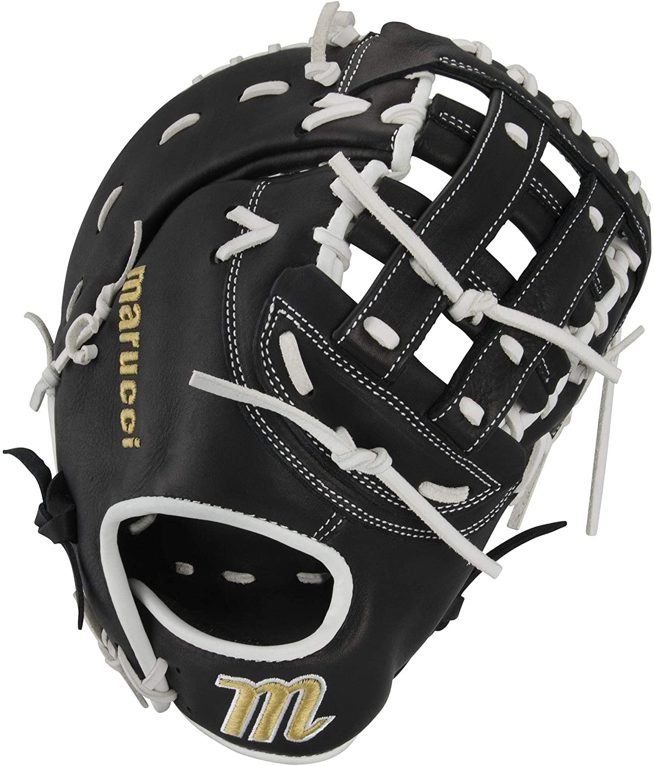 marucci-palmetto-series-fastpitch-softball-glove-13-right-hand-throw MFGPL3FP-BKW-RightHandThrow Marucci  Soft-tumbled cowhide shell increases durability while reducing weight Cushioned leather finger