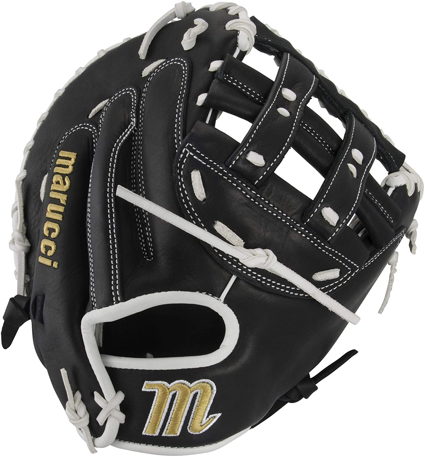 marucci-palmetto-series-fastpitch-softball-mitt-34-right-hand-throw MFGPL2FP-BKW-RightHandThrow Marucci  Soft-tumbled cowhide shell increases durability while reducing weight Cushioned leather finger