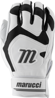 marucci signature batting gloves mbgsgn2 1 pair white black adult small