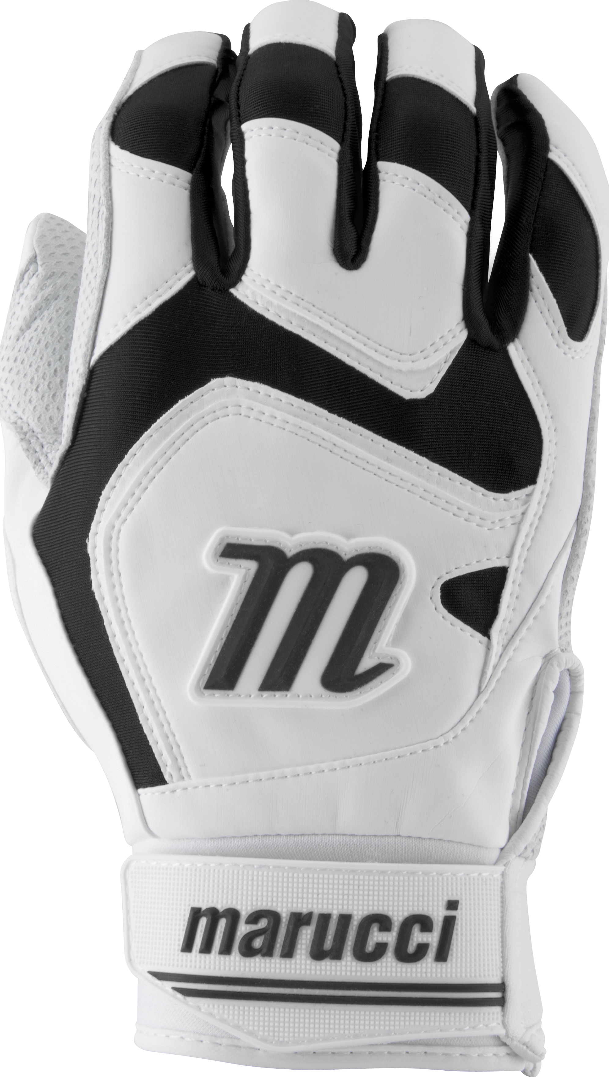 marucci-signature-batting-gloves-mbgsgn2-1-pair-white-black-adult-x-large MBGSGN2-WBK-AXL  849817096611 2019 Model MBGSGN2-W/BK Consistency And Craftsmanship Commitment To Quality And Understanding