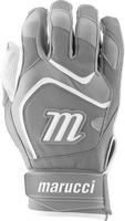 marucci signature batting gloves mbgsgn2 1 pair white grey adult medium