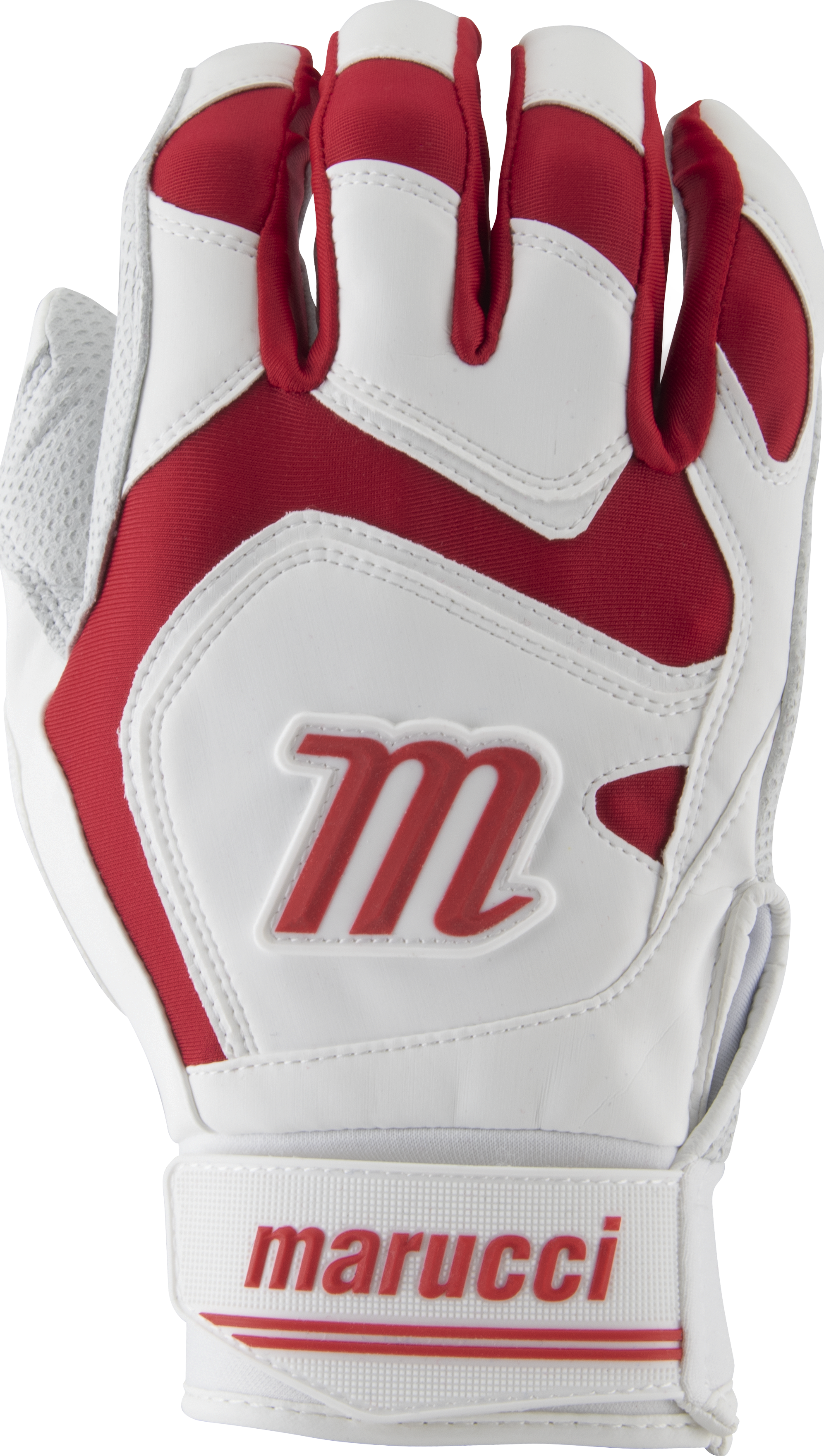 marucci-signature-batting-gloves-mbgsgn2-1-pair-white-red-adult-large MBGSGN2-WR-AL  849817096680 2019 Model MBGSGN2 Consistency And Craftsmanship Commitment To Quality And Understanding