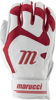 marucci signature batting gloves mbgsgn2 1 pair white red adult medium