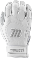 marucci signature batting gloves mbgsgn2 1 pair white white adult small