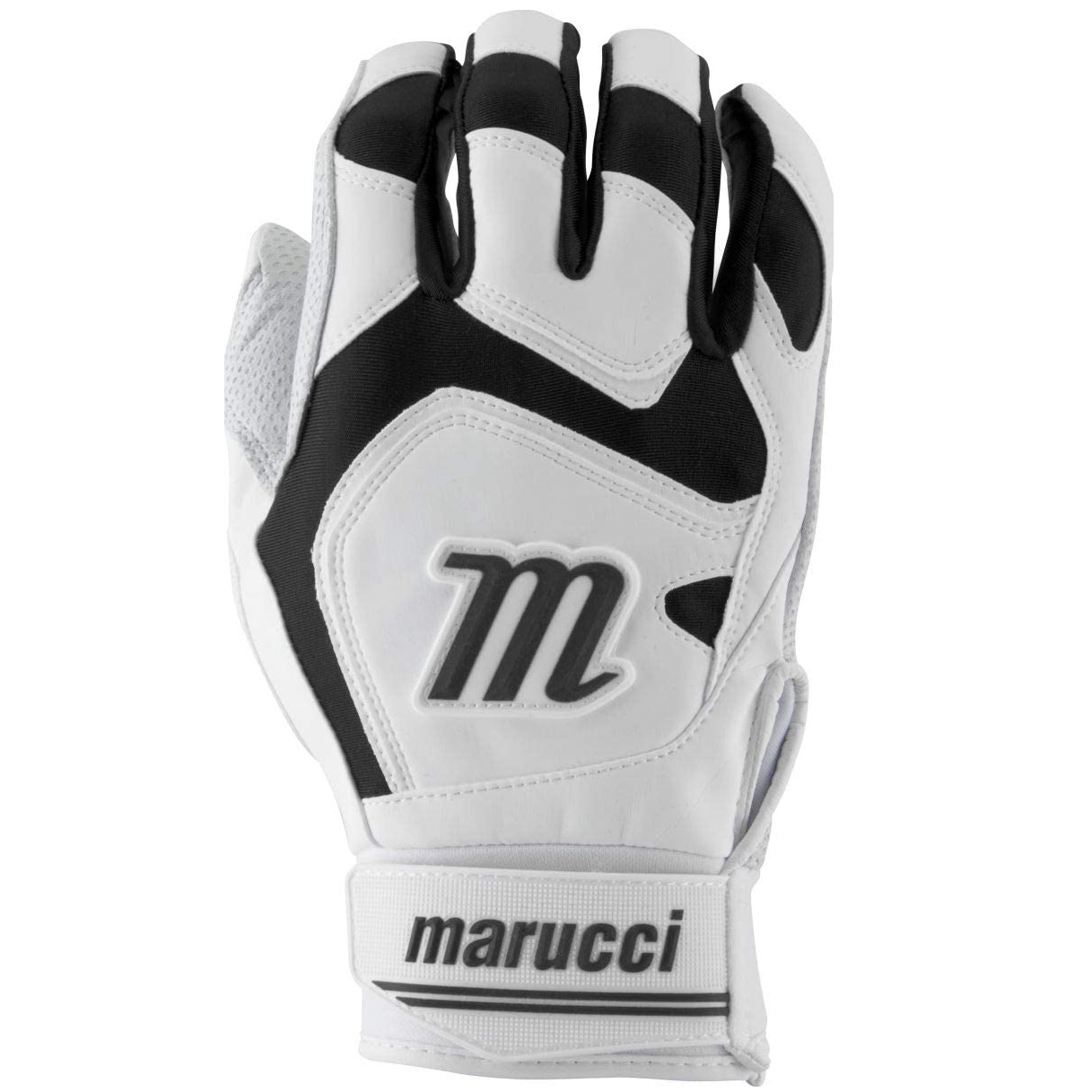 marucci-signature-youth-batting-gloves-black-youth-medium MBGSGN2Y-BKW-YM Marucci  Digitally embossed perforated Cabretta sheepskin palm provides maximum grip and durability